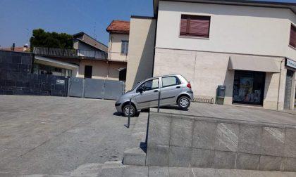 Giussano, un parcheggio molto creativo…