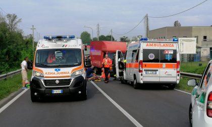 Incidente tra Bellusco e Vimercate, strada Provinciale bloccata FOTO