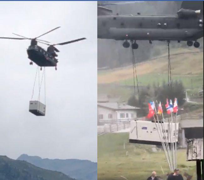 L'elicottero militare scoperchia un tetto: ferito bambino di 10 anni IL VIDEO