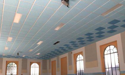 Scuola primaria Filiberto a Vimercate: terminati i lavori di insonorizzazione