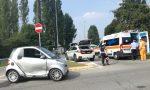 Giussano, incidente alla rotonda della via della Gibbina