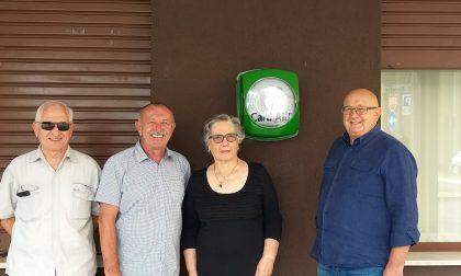 Carnate, un nuovo defibrillatore in via Beretta