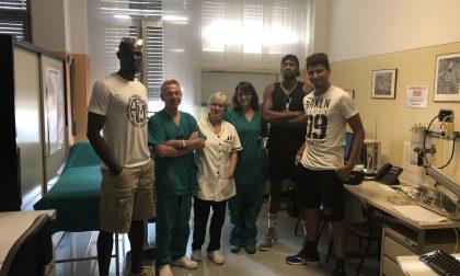 I big del volley all'ospedale di Desio