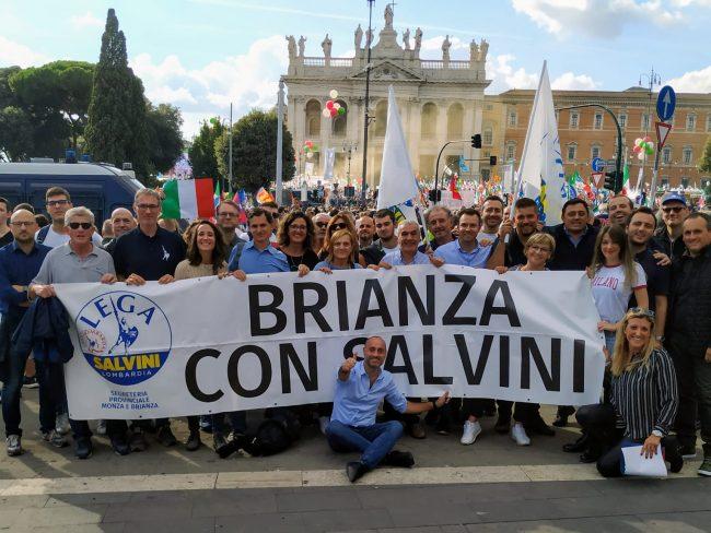 Lega di Monza e Brianza alla manifestazione a Roma