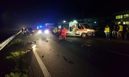 Incidente a Bellusco, il motociclista non ce l'ha fatta