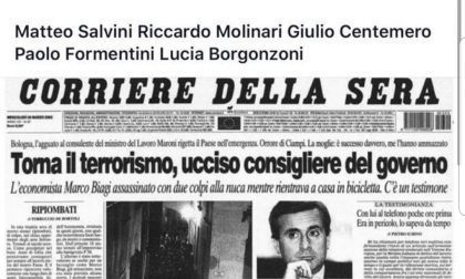 Capitanio accosta la piazza contro Salvini agli assassini di Marco Biagi, l'ira del Pd