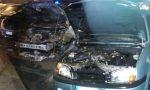Auto in fiamme nella notte a Copreno