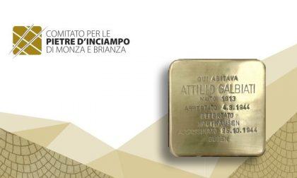 """Bernareggio, una """"pietra di inciampo"""" in ricordo di Attilio Galbiati"""
