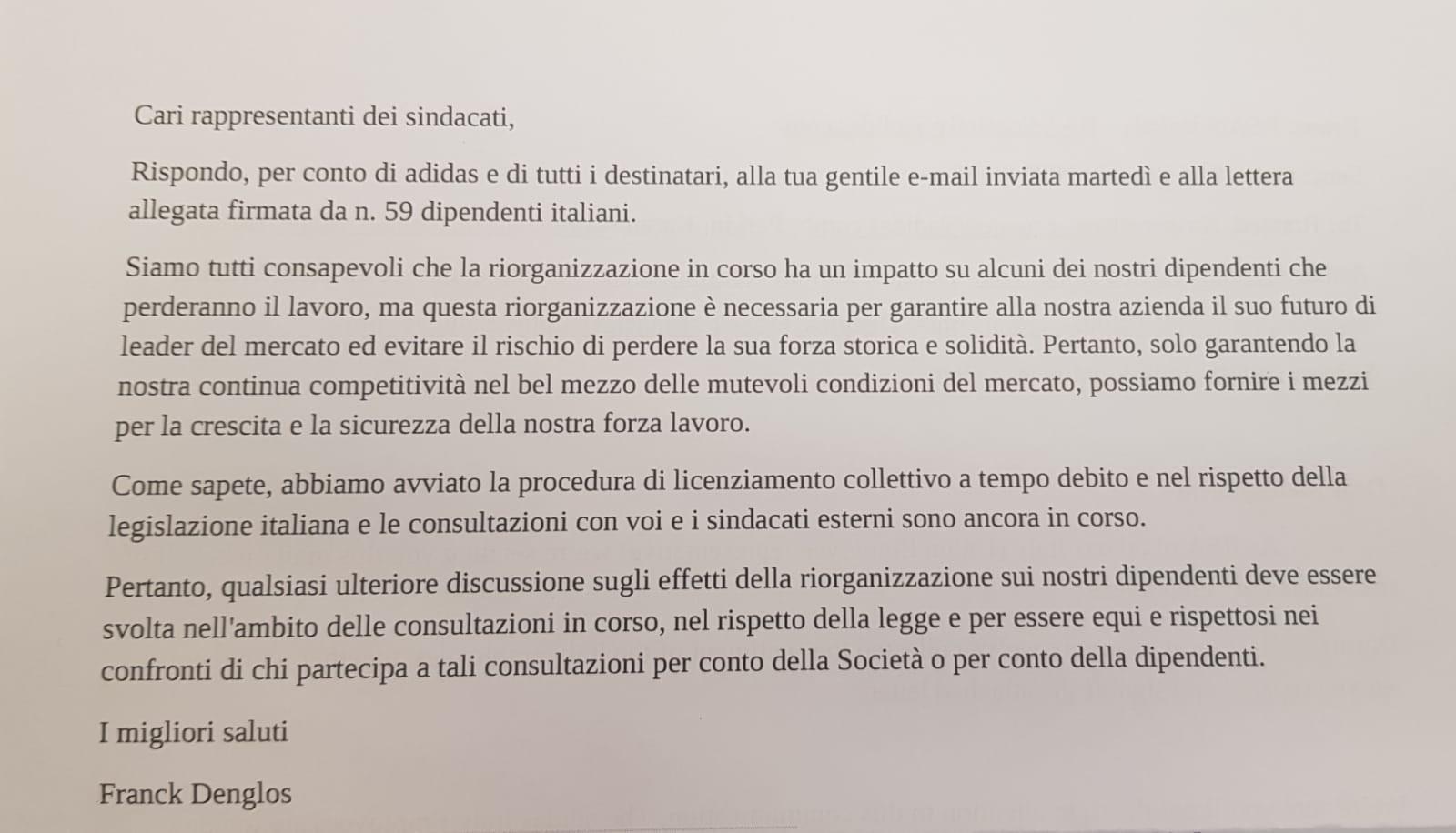 adidas italia azienda