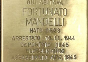 Verano, Pietra d'inciampo in memoria di Fortunato Mandelli