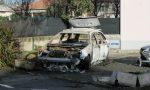 Va a fuoco un'auto a Giussano