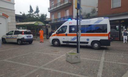 Soccorsi in stazione a Seveso
