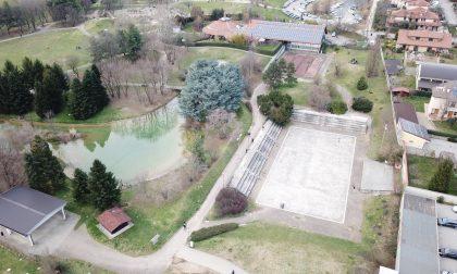 Il Parco Aldo Moro di Agrate quasi deserto FOTO