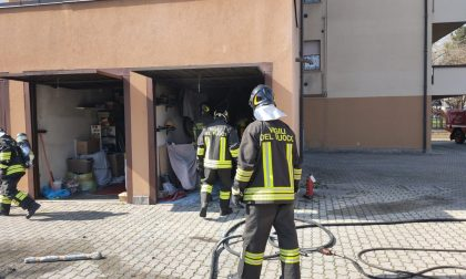 Incendio in un box a Lentate, 18enne in ospedale