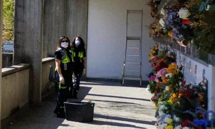 Ramoscelli d'ulivo nei cimiteri di Agrate e Omate