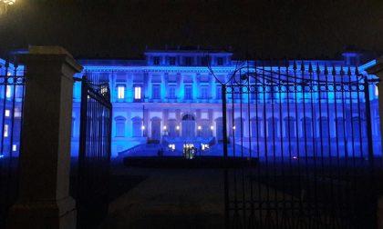 Villa Reale blu, domani torna Tricolore per Coronavirus