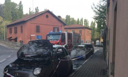 Tre auto in fiamme a Triuggio