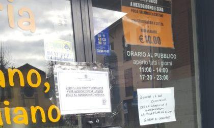 A Seveso multata una pizzeria aperta con un cliente