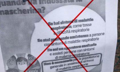 Falsi volantini del Ministero della Salute contro l'uso delle mascherine