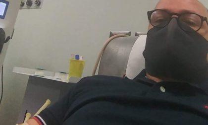 Donazione di sangue, il sindaco Capitanio dà il buon esempio