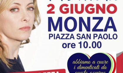 Fratelli d'Italia in piazza a Monza il 2 giugno