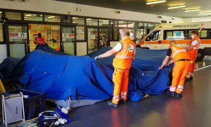 Covid: smontate le tende per il triage all'Ospedale di Vimercate