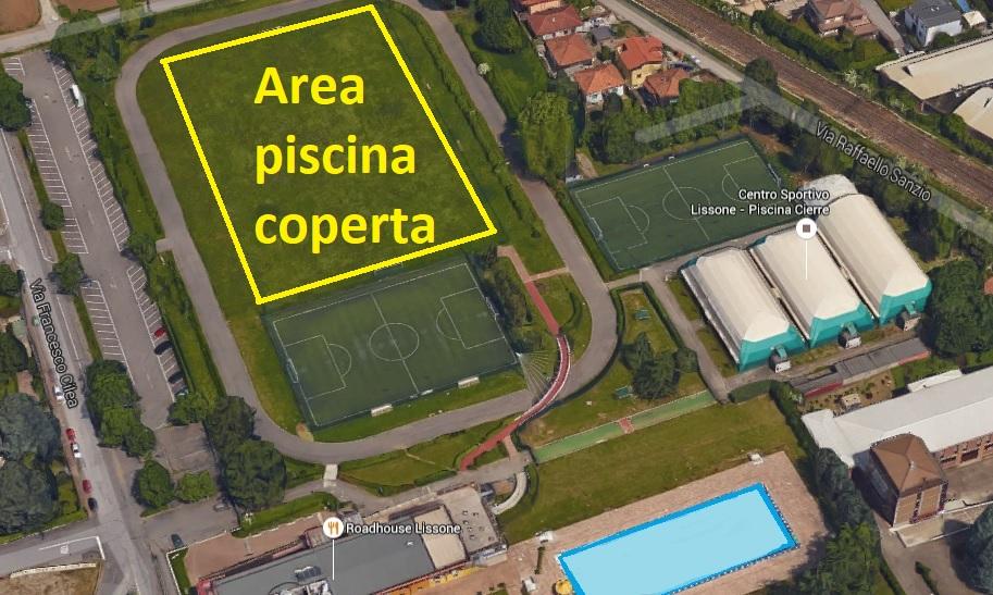 Lissone, l'area della futura piscina