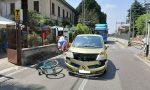 Incidente a Meda tra auto e bici: due donne in ospedale FOTO