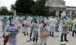Infermieri brianzoli manifestano a Roma per rivendicare bisogni e necessità
