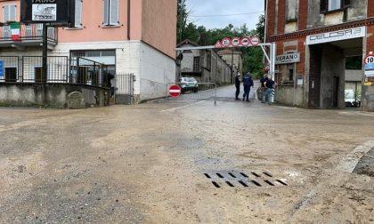 Verano, temporale e fango: via Garibaldi chiusa