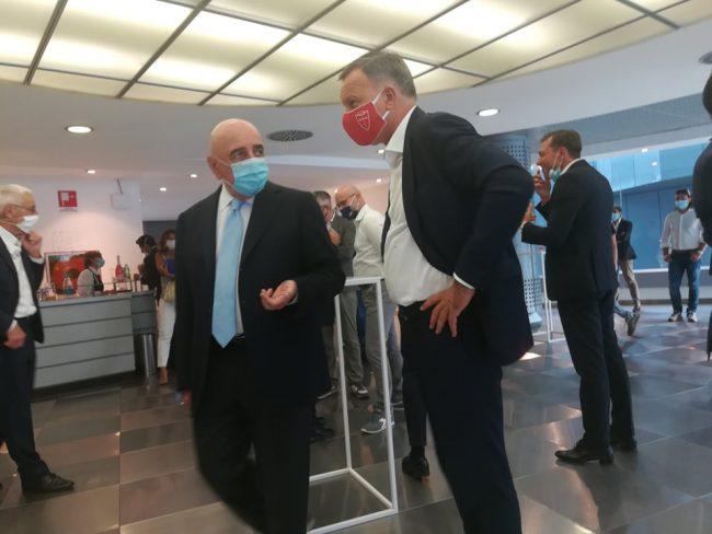 Adriano Galliani con il sindaco Dario Allevi