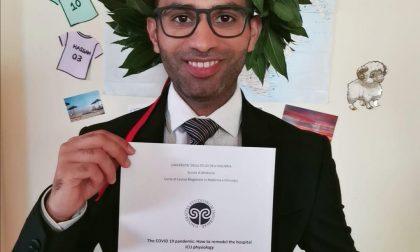 Pakistano monzese è dottore con tesi sul Covid