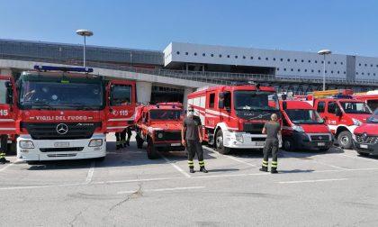 Tutte le foto dell'esercitazione dei Vigili del fuoco in Fiera