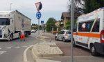 Incidente con un camion, soccorsi in codice rosso FOTO VIDEO
