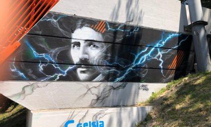 L'arte di strada dà il tocco finale alla passerella ciclopedonale di Seregno FOTO
