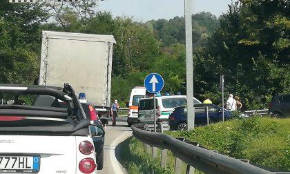 Giussano, incidente in moto  sulla Sp 102