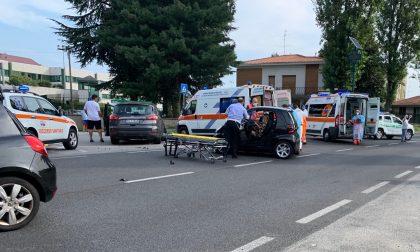 Carate, brutto incidente in viale Brianza: tre feriti