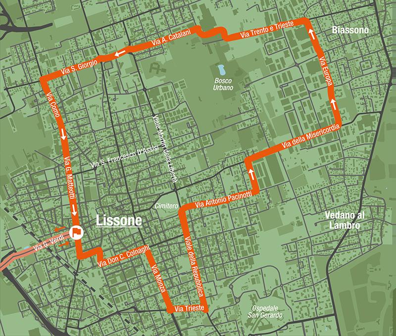 Lissone, percorso Trittico Lombardo