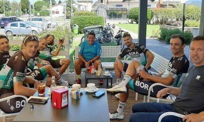 Sorpresa a Correzzana: pausa caffè… con il campione del mondo di ciclismo