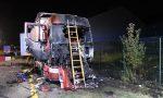 Mezzo pesante prende fuoco ad Arcore FOTO VIDEO