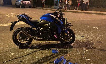 Drammatico scontro tra un'automobile e una moto