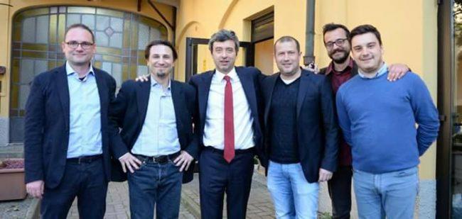 Andrea Orlando in occasione della sua visita al Giornale di Monza della