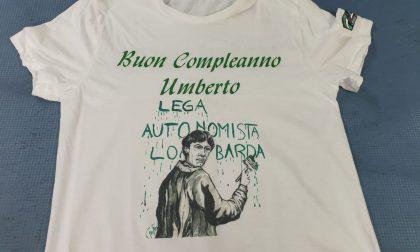 Una maglietta per il compleanno di Bossi