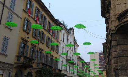 La città si sveglia sotto gli ombrelli verdi ECCO PERCHE'