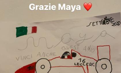 Arcore, la piccola Maya commuove Leclerc: il suo disegno fa il giro del mondo