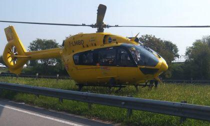Elisoccorso a Villasanta per un incidente in via Vecellio FOTO