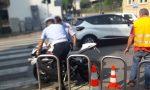 Seregno: scontro auto moto, ferito un 36enne FOTO