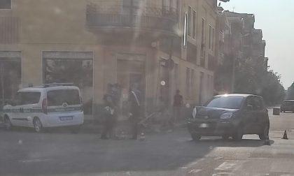 Lissone: scontro tra due auto all'incrocio