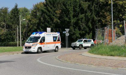 Busnago: caduta da bici per un 66enne trasportato in ospedale in elicottero