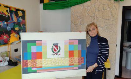 Villa Zoja, coperto l'affresco dell'artista Manuela Bramati